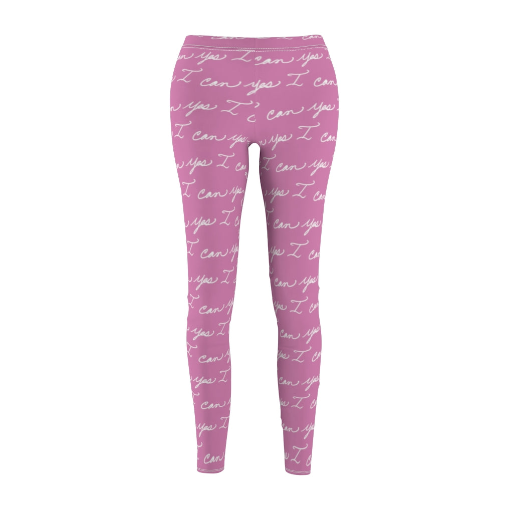 Women's Casual Leggings - Yes I can, Pink