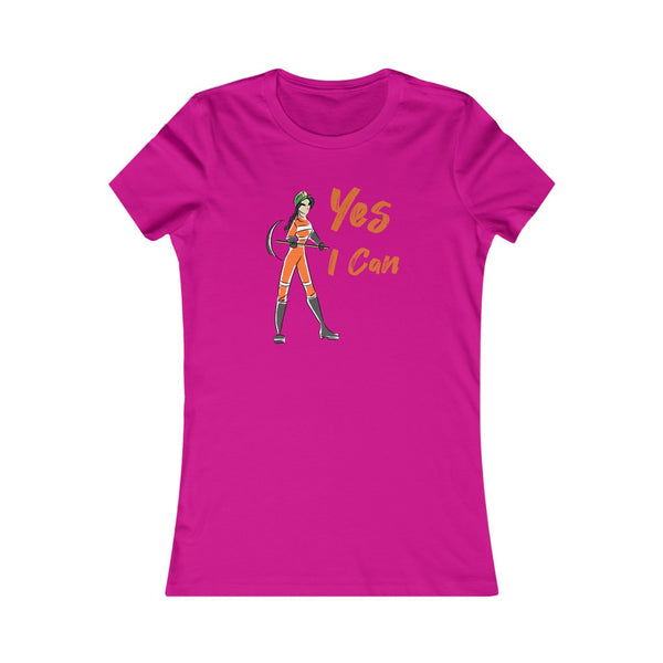 Slim Fit Tee (Asst Colors)- Yes I Can, Miner