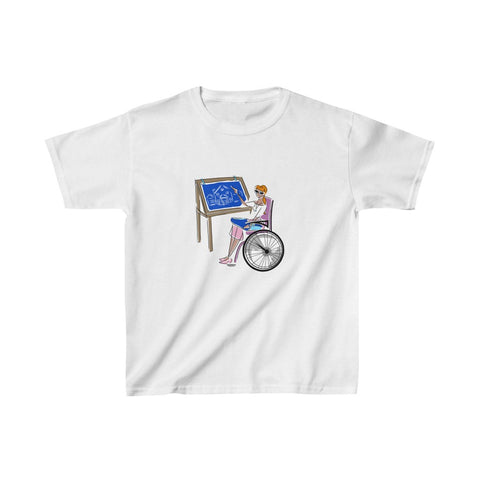 Kids Heavy Cotton™ Tee, Yes I Can, Architect