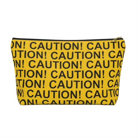 Accessory Pouch w T-bottom - Caution Tape