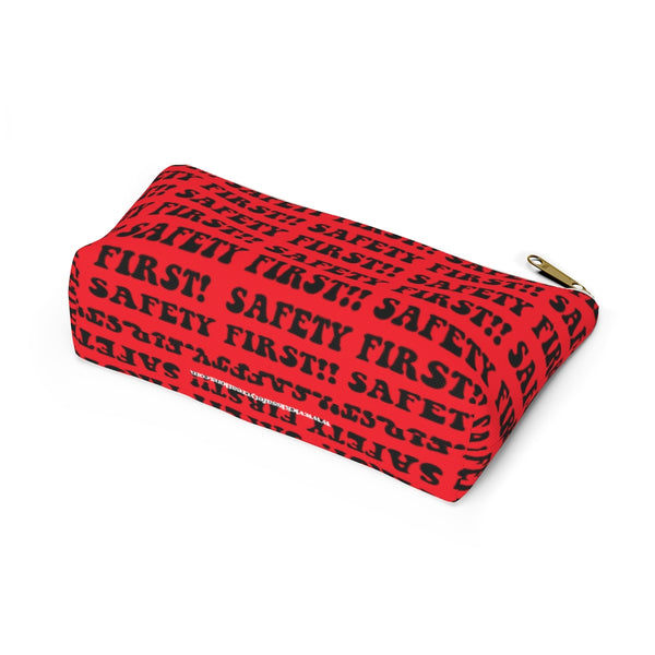 Accessory Pouch w T-bottom - Safety First, Red