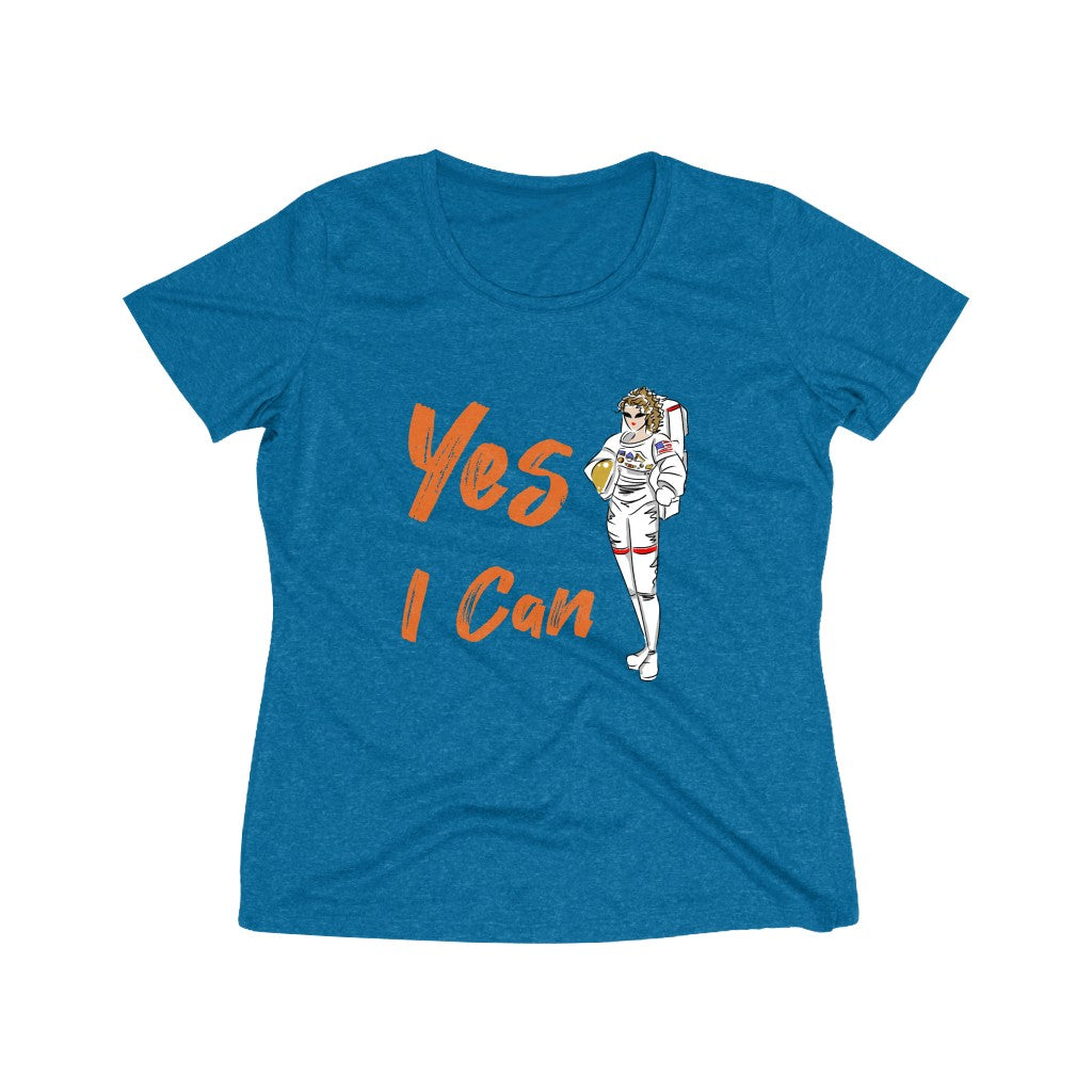 Heather Wicking Tee (Asst Colors) - Yes I Can, Astronaut