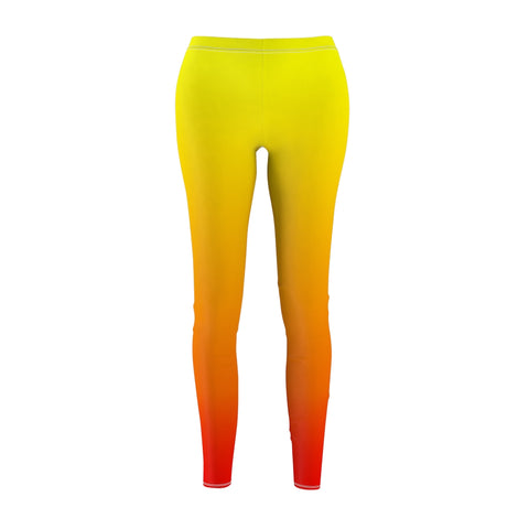 Women's Casual Leggings - Fire Ombre