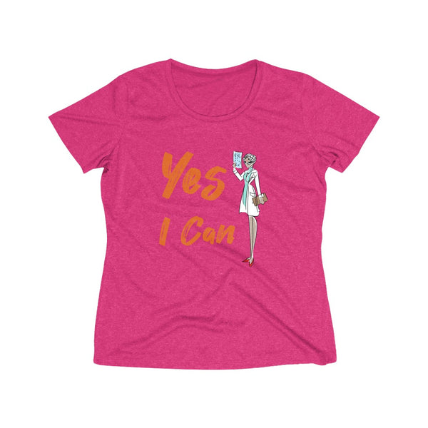 Heather Wicking Tee (Asst Colors) - Yes I Can, Doctor