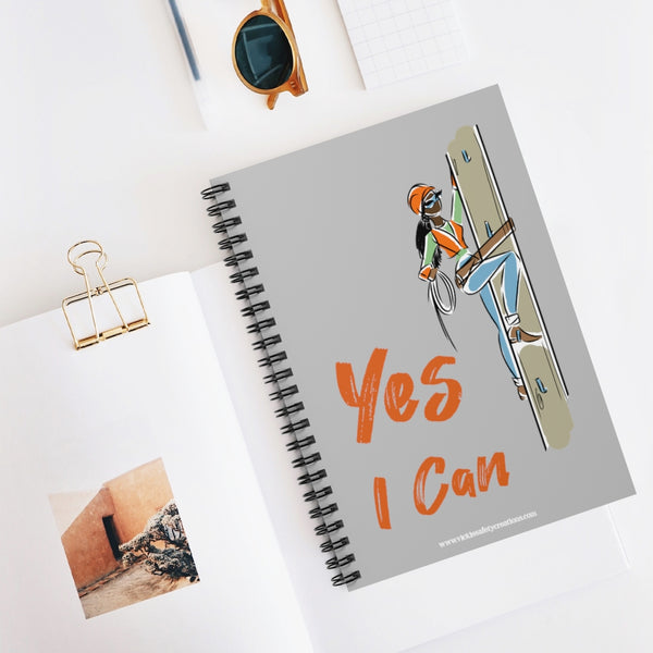 Spiral Notebook, Ruled Line - Yes I Can, Utility Worker