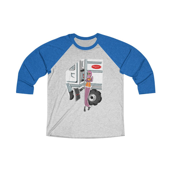 Unisex Tri-Blend 3/4 Raglan Tee (Asst Colors) - Yes I can, CDL Driver