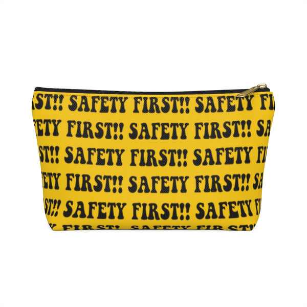 Accessory Pouch w T-bottom - Safety First, Yellow