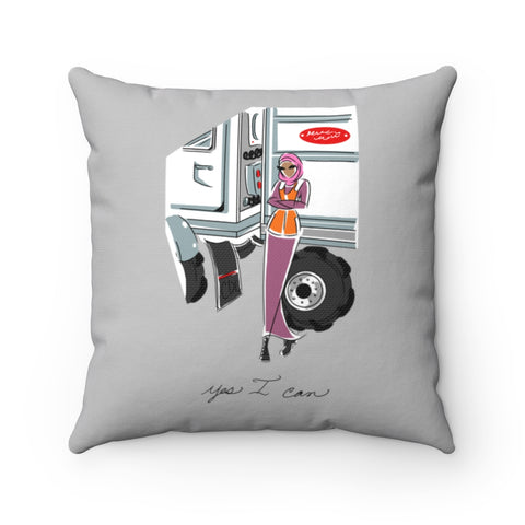 Spun Polyester Square Pillow, Asst. Sizes - Yes I can, CDL Driver