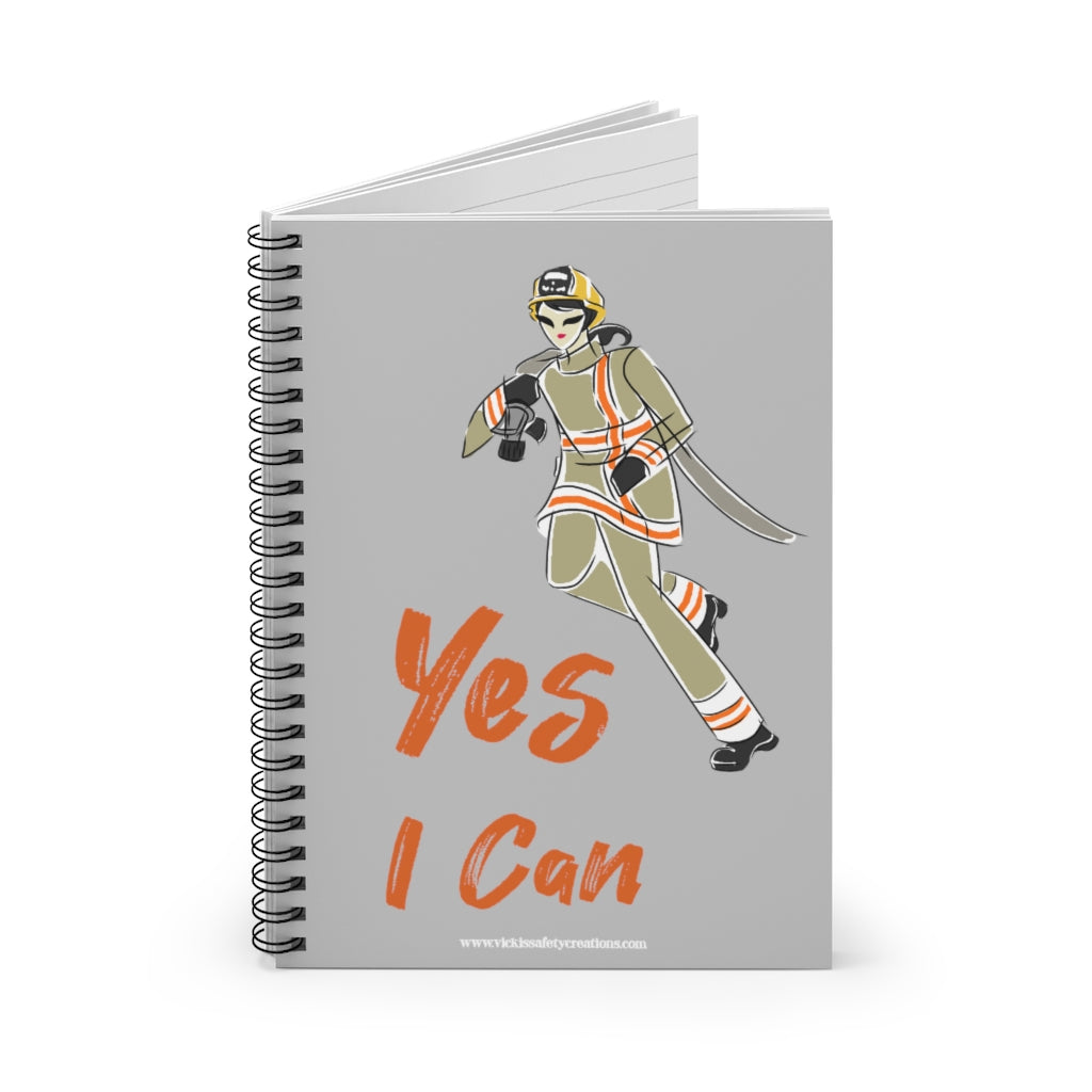 Spiral Notebook, Ruled Line - Yes I Can, Firefighter