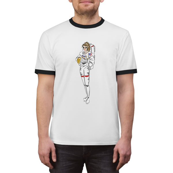 Unisex Ringer Tee (Asst Colors) - Yes I Can, Astronaut