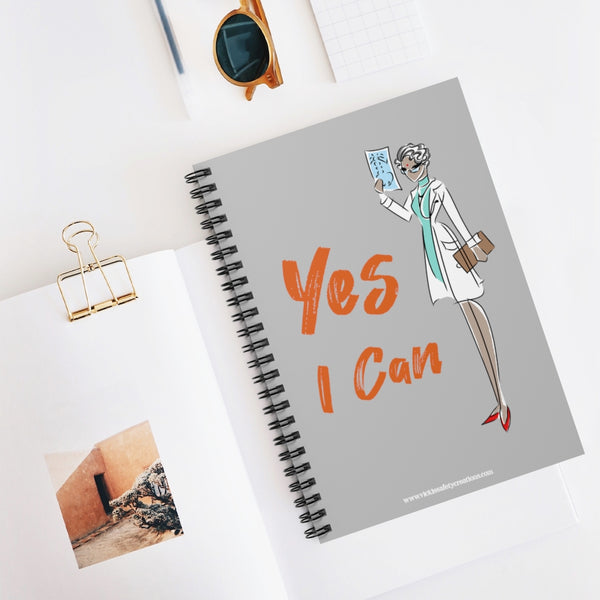 Spiral Notebook, Ruled Line - Yes I Can, Doctor