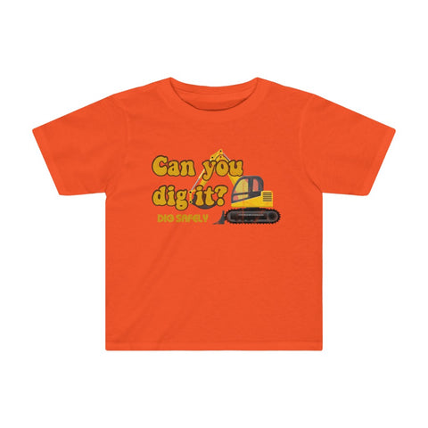 "Toddler Tee (Asst Colors) - Retro ""Dig It"""