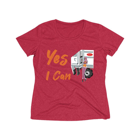 Heather Wicking Tee (Asst Colors) - Yes I Can, CDL Driver