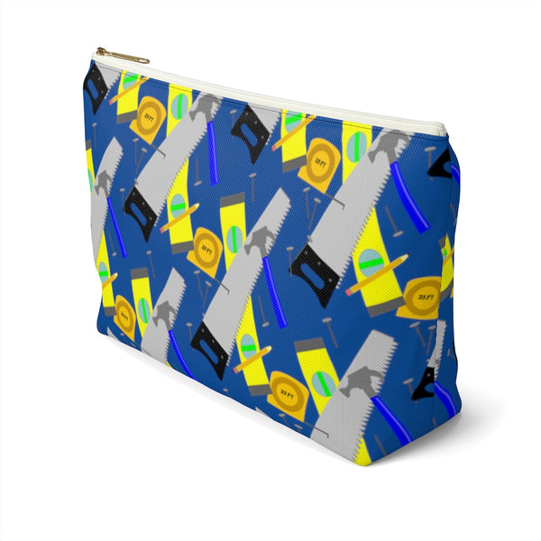 Accessory Pouch w T-bottom - Construction Tools, Blue