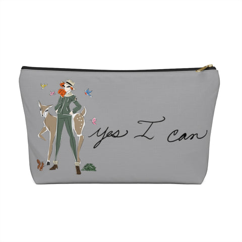Accessory Pouch w T-bottom - Yes I Can, Ranger