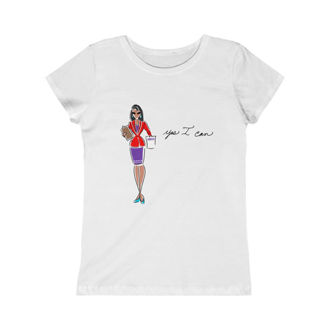 Kids Princess Tee (Asst Colors) - Yes I can, Human Resources