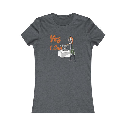 Slim Fit Tee (Asst Colors)- Yes I Can, Blacksmith