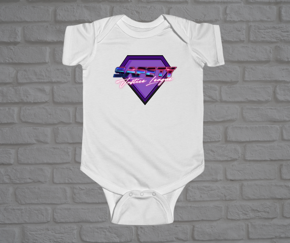 Infant Bodysuit - Safety Justice League, Asst. Designs