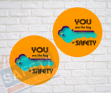 Ceramic Car Coasters (set of 2), Asst. Safety Designs