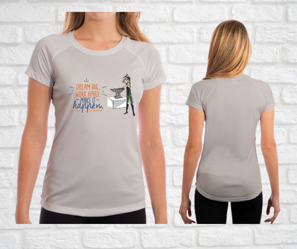 Yes I Can Be a Blacksmith Ladies Fit T-Shirt