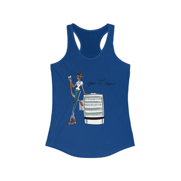 Women's Ideal Racerback Tank (Asst Colors) - Yes I can, HVAC Service Technician