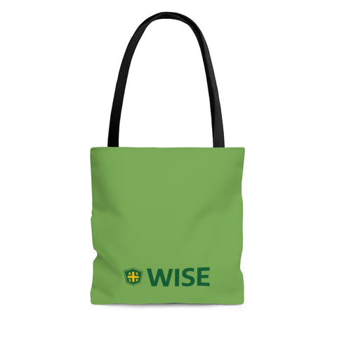 Tote Bag, Green (Asst Sizes) - WISE
