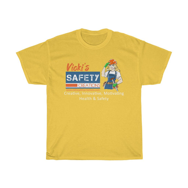 Unisex Basic Cotton Tee (Asst Colors) - Vicki's Safety Creations