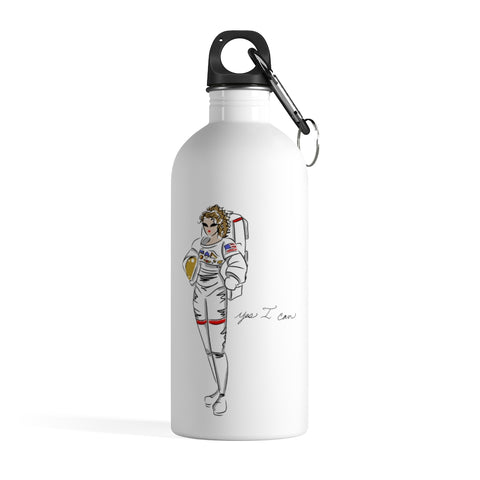 Stainless Steel Water Bottle - Yes I can, Astronaut
