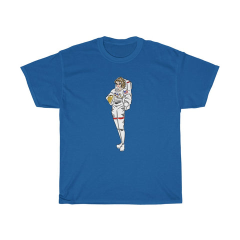 Unisex Basic Cotton Tee (Asst Colors) - Yes I can, Astronaut