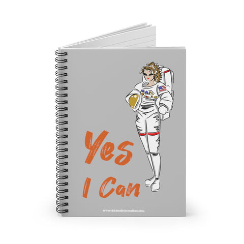 Spiral Notebook, Ruled Line - Yes I Can, Astronaut