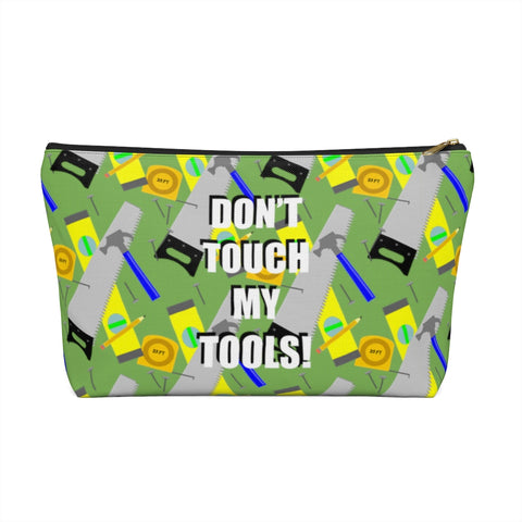 Accessory Pouch w T-bottom - Construction Tools, Green