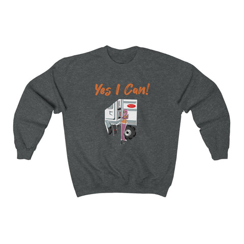 Heavy Blend™ Crewneck Sweatshirt (Asst Colors) - Yes We Can, CDL Driver