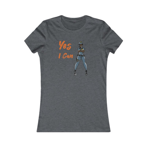 Slim Fit Tee (Asst Colors)- Yes I Can, Police Officer