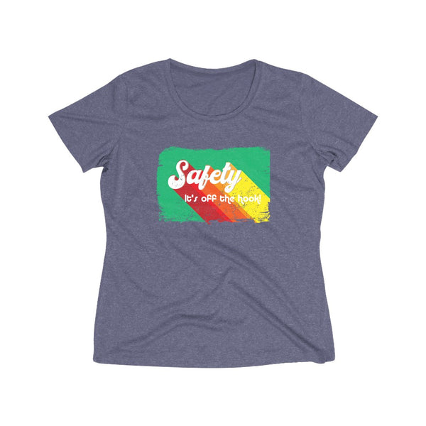 Women's Heather Wicking Tee (Asst. Colors) - Retro Safety