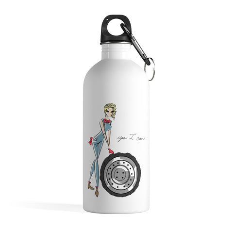 Stainless Steel Water Bottle - Yes I can, Mechanic