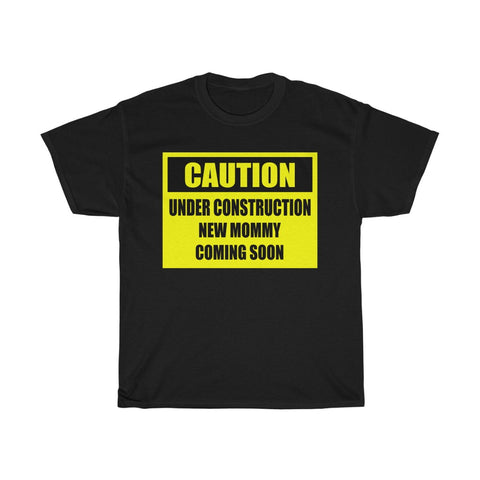 Unisex Basic Cotton Tee - Caution, New Mommy