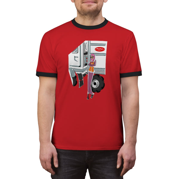 Unisex Ringer Tee (Asst Colors) - Yes I Can, CDL Driver