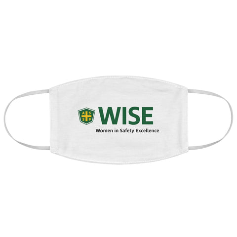 Fabric Face Mask - White, Center WISE Logo