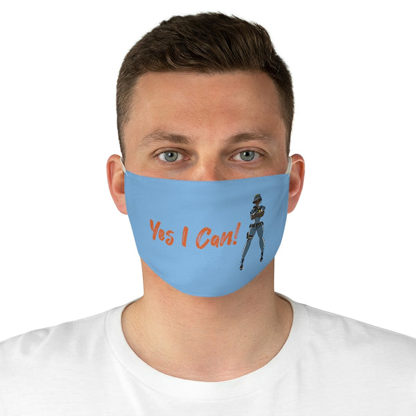 Fabric Face Mask - Yes I Can, Police Officer