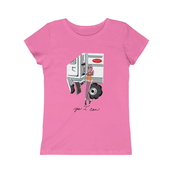 Kids Princess Tee (Asst Colors) - Yes I can, CDL Driver
