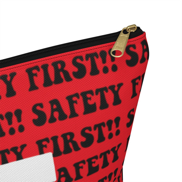 First Aid Accessory Pouch w T-bottom - Safety First, Red