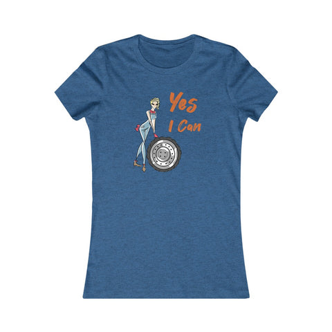 Slim Fit Tee (Asst Colors)- Yes I Can, Mechanic