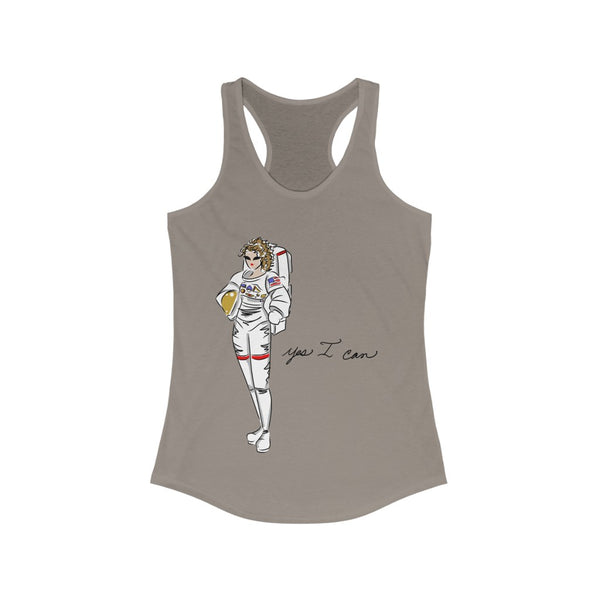 Women's Ideal Racerback Tank (Asst Colors) - Yes I can, Astronaut
