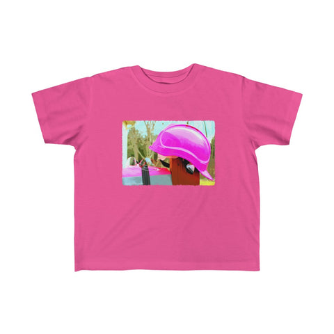 Toddler Fine Jersey Tee - Safety in Pink
