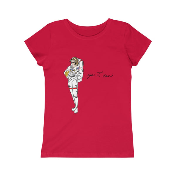 Kids Princess Tee (Asst Colors) - Yes I can, Astronaut