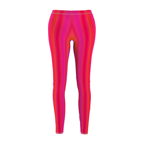 Women's Casual Leggings - Candy Stripe Ombre