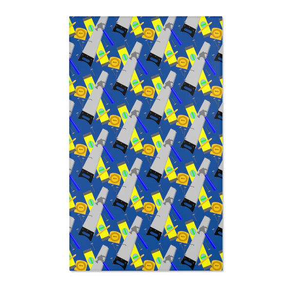 Area Rug - Construction Tools, Blue