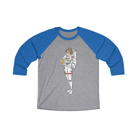 Unisex Tri-Blend 3/4 Raglan Tee (Asst Colors) - Yes I can, Astronaut