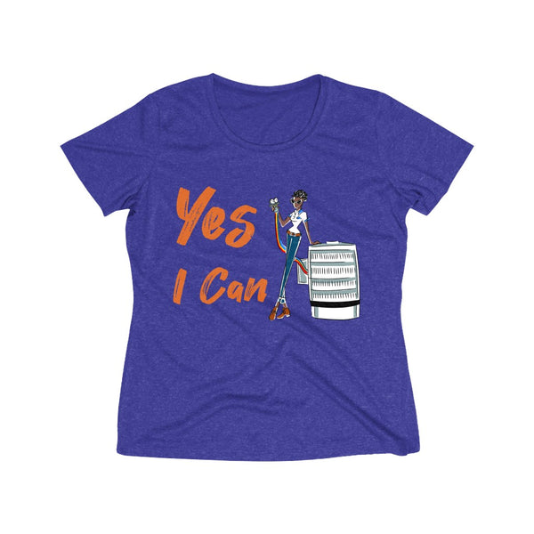 Heather Wicking Tee (Asst Colors) - Yes I Can, HVAC Service Technician