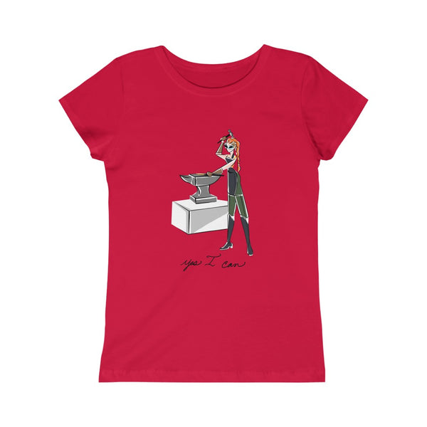Kids Princess Tee (Asst Colors) - Yes I can, Blacksmith